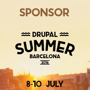 Badge Sponsor Drupal Summer Barcelona 2016