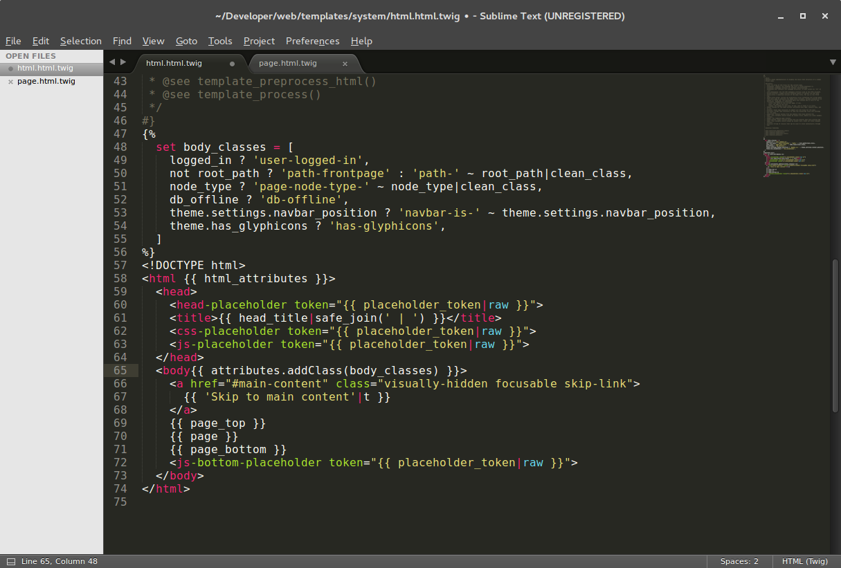 Cómo establecer coloreado de sintaxis para TWIG en Sublime Text 3 ...